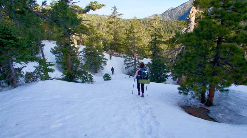 Descending toward Tahquitz Creek