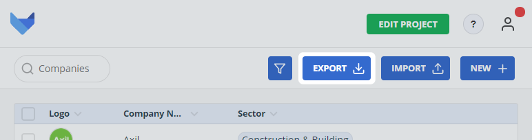 Export Records Button