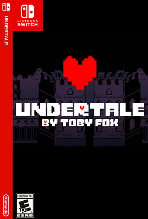 A custom boxart design for Undertale on the Switch