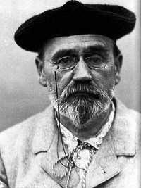 A photograph of the writer Emile Zola, Cezanne's closest friend until the two men fell out in 1876
