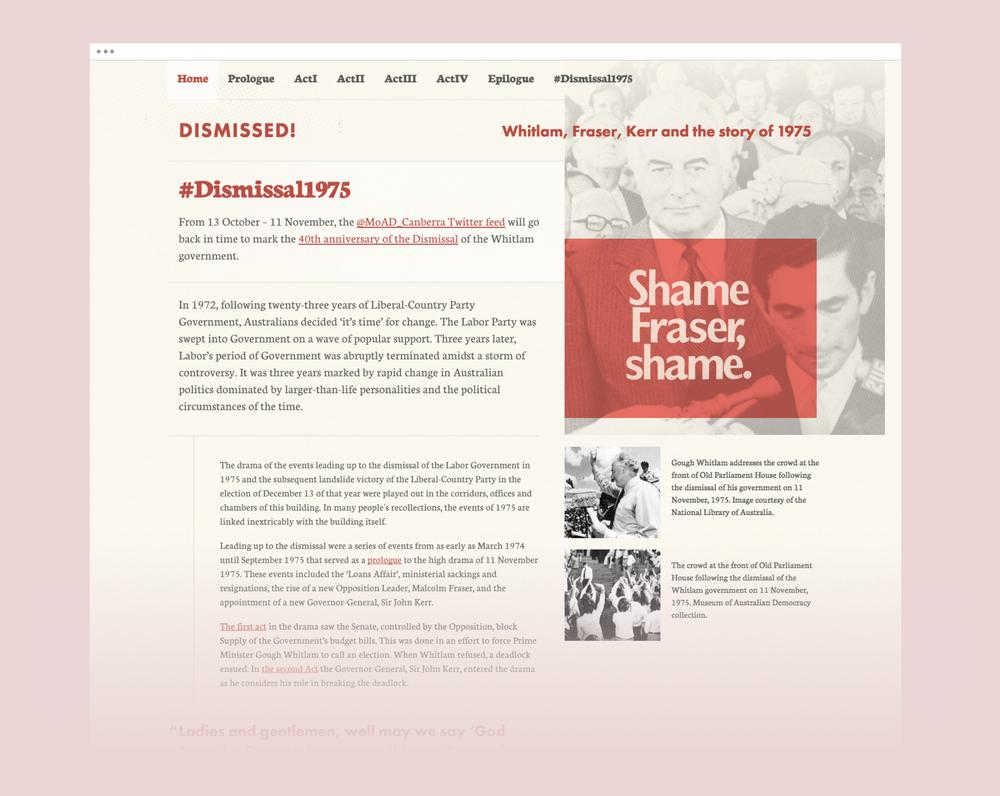 Dismissed updated homepage