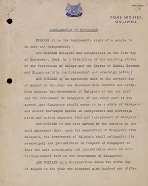 Proclamation of the Republic of Singapore