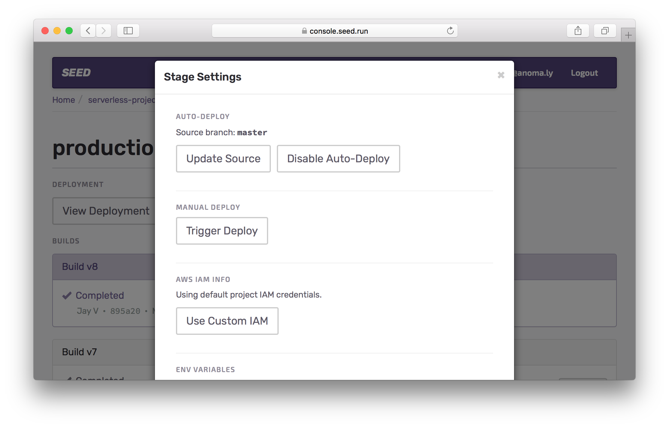 Disable auto-deploy for production