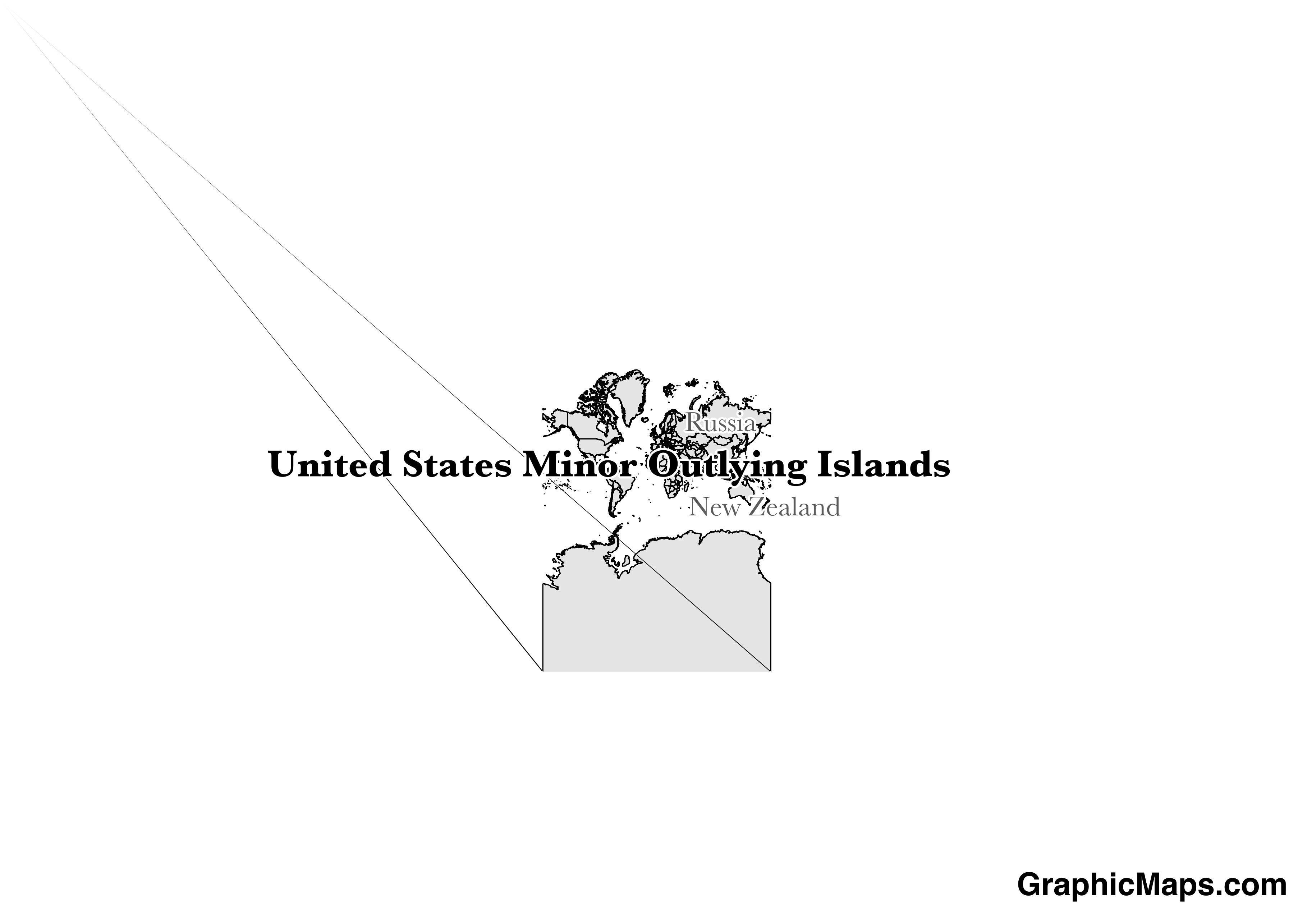 Map showing the location of United States Minor Outlying Islands