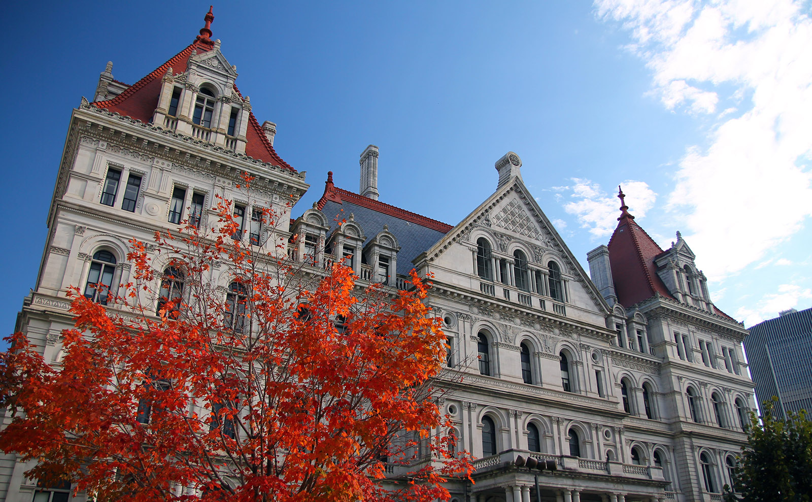 new york state capital building in albany, new york