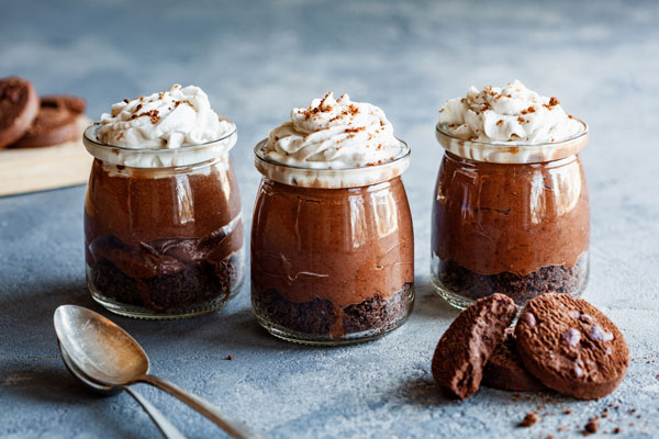 Double Chocolate Vegan Mousse Parfait