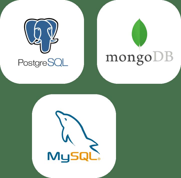 MySQL, PostgreSQL, MongoDB database backup