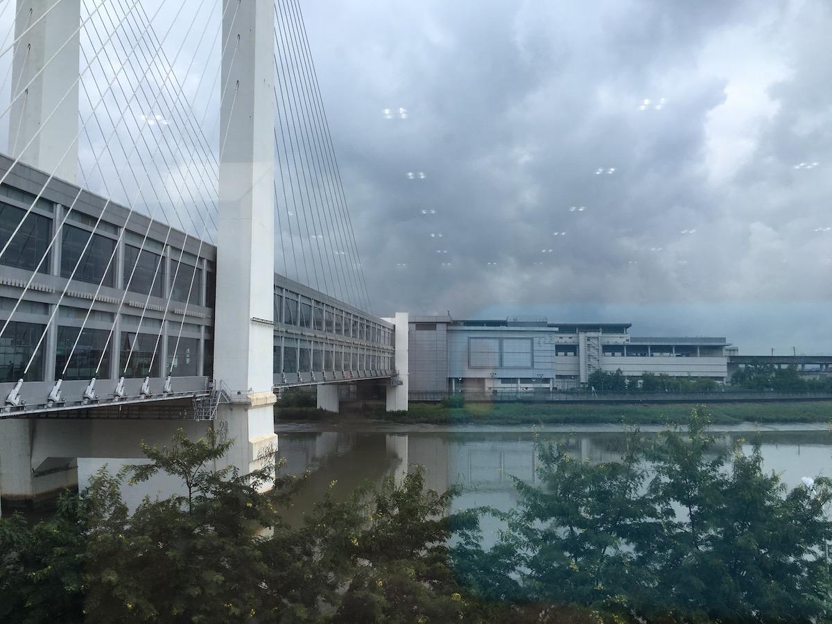 Bridge across Shenzhen River at Futian
