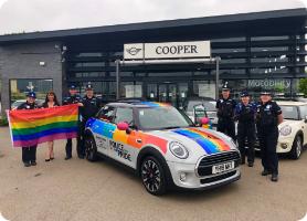 Durham Police Pride vehicle
