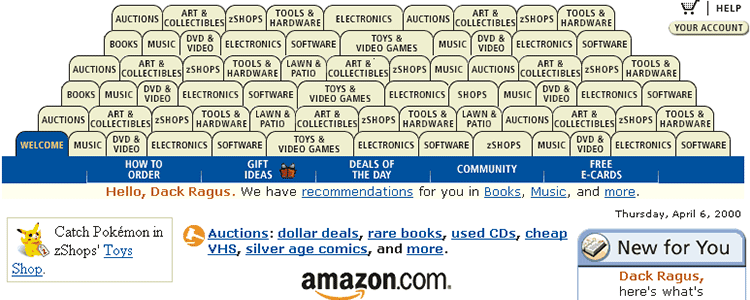 A lot of Amazon tabs.