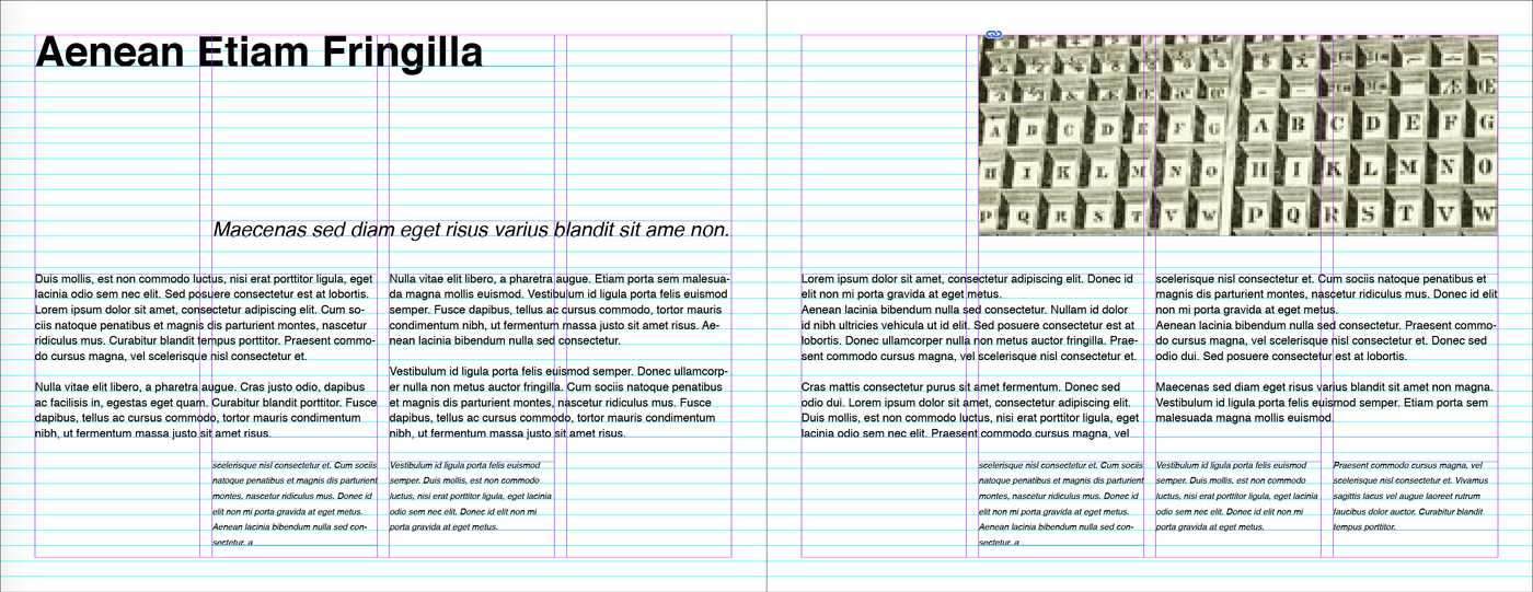 indesign screenshot of grid