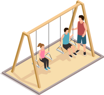Swingset in sandbox