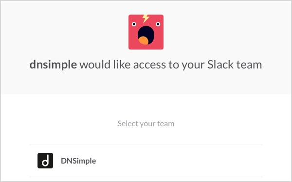 Slack Integration Step 2