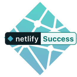 Netlify Build Success badge over the Netlify logo