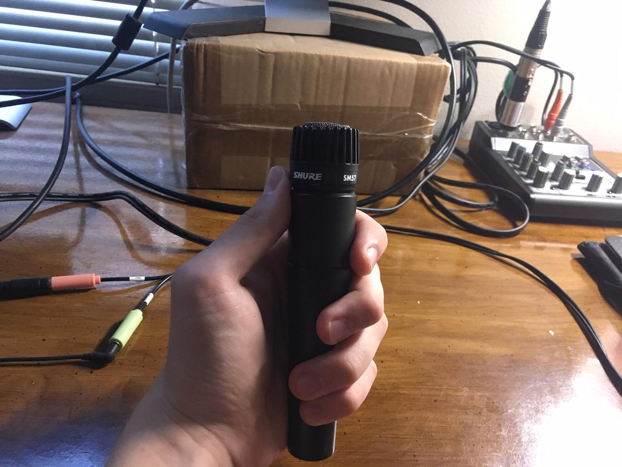 A Shure SM57 microphone