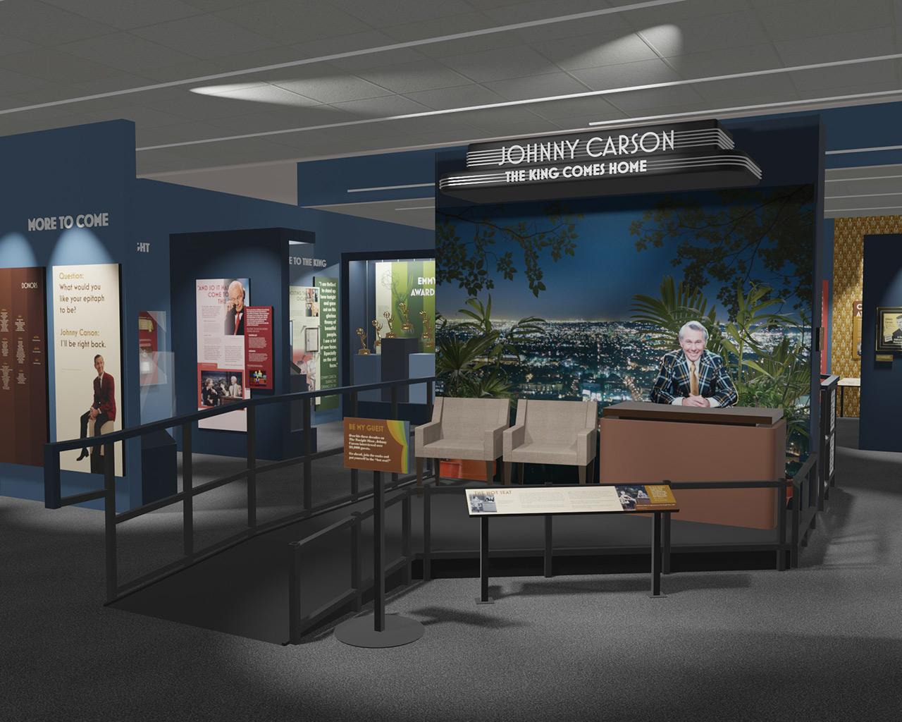 museum exhibit rendering