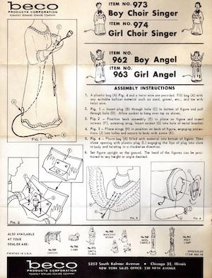 Beco Products Boy Choir Singer #973, Girl Choir Singer #974, Boy Angel #962, Girl Angel #963 Instruction Manual (1962-06).pdf preview