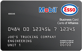 Mobil esso card