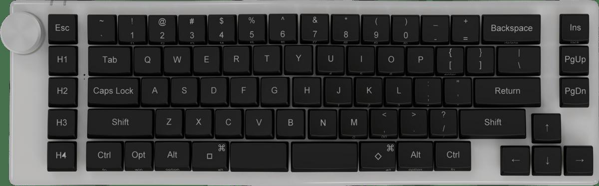 Apollo White Keyboard