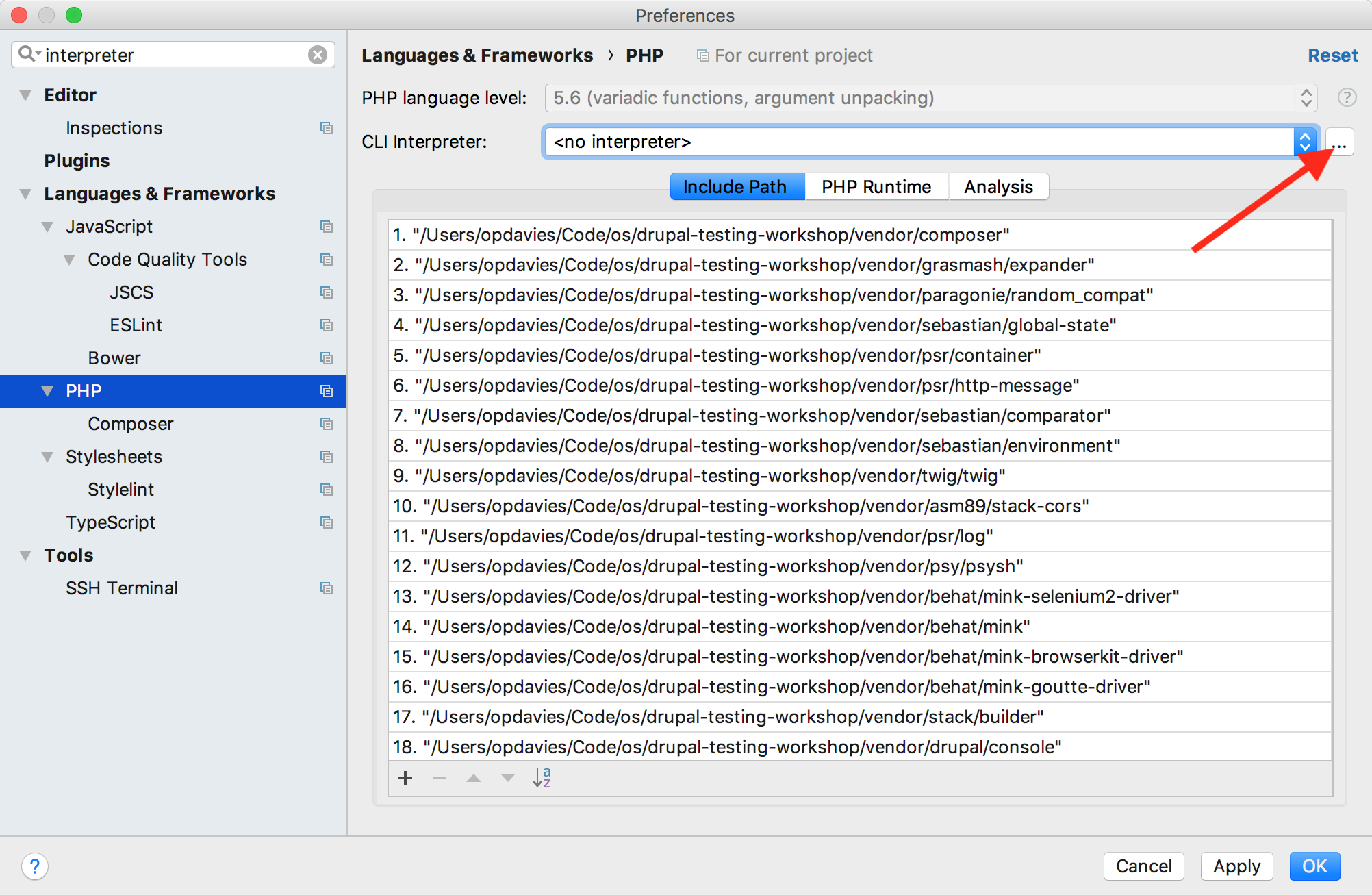 How to run Drupal 8 PHPUnit Tests within Docksal from PhpStorm