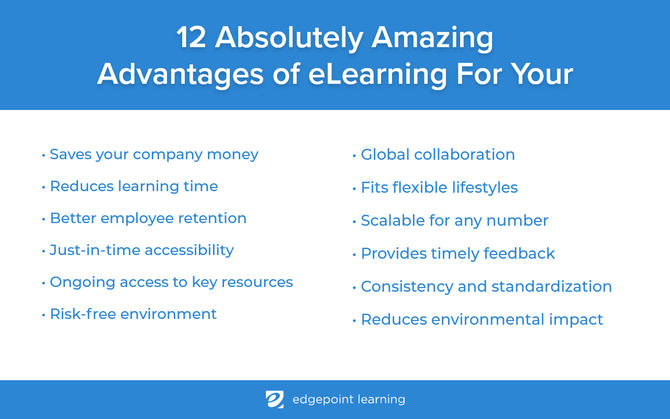 Advantages of eLearning