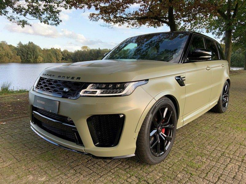 "Land Rover Range Rover Sport P575 SVR 'Solid Gloss Avocado' Carbon SVR motorkap + Drive Pro Pack + Panoramadak + 22"" + Stoelkoeling + Head-Up + Stuurwielverwarming + Carbon interieur afbeelding 11"