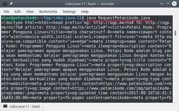 HTTP Request pada Java 11
