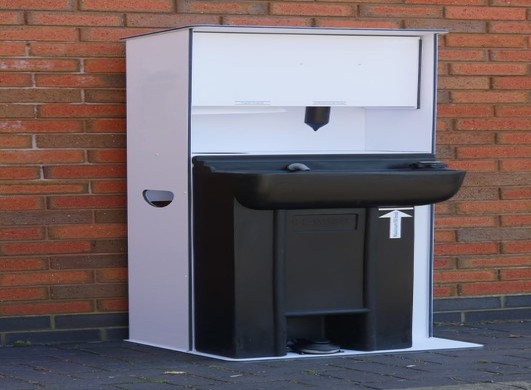 Large coronavirus handwash station external