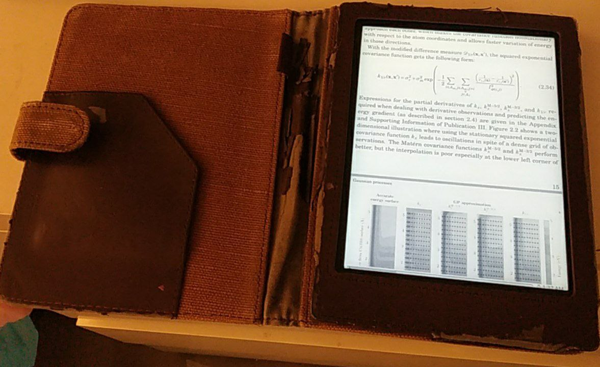 Figure 1: Primary reading device with Koreader