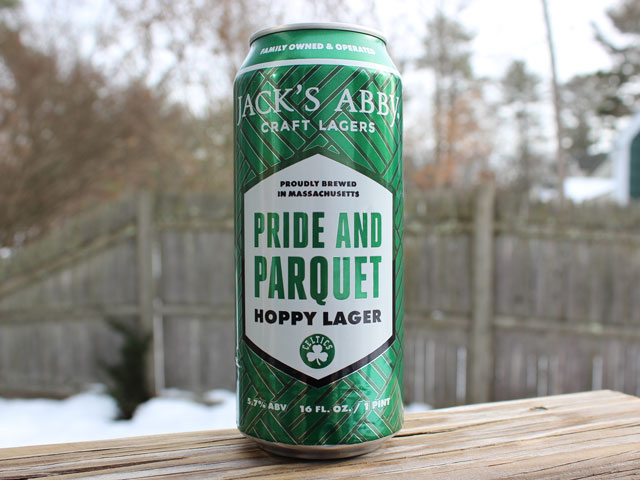 Pride and Parquet, a Hoppy Lager brewed by Jack's Abby