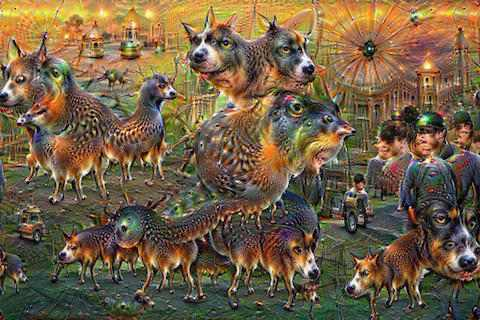 deepdream animals