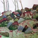 """Kelli Valk, Estonia. """"Vaade mäelt"""" 2017. Water colour, 50x70cm"""