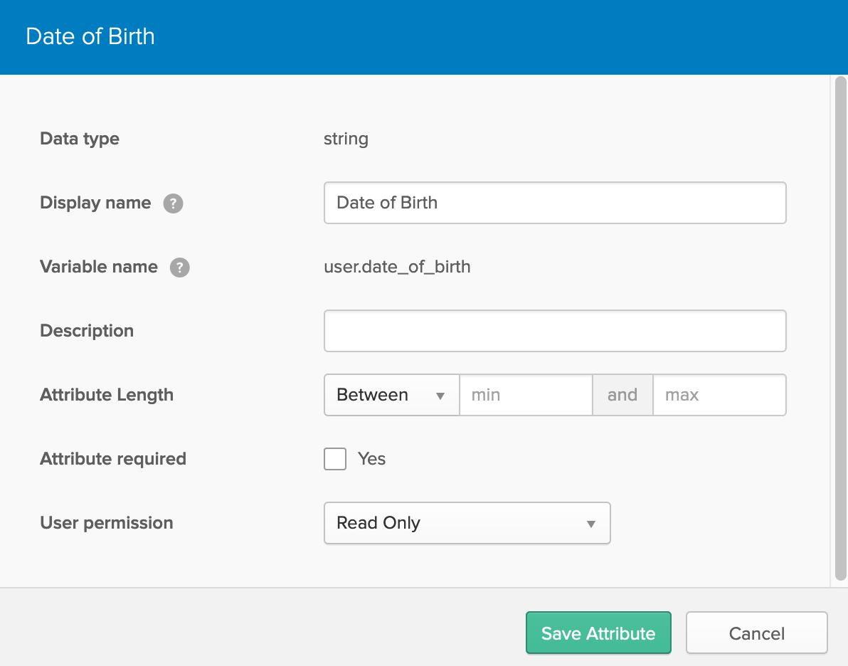 Okta date of birth