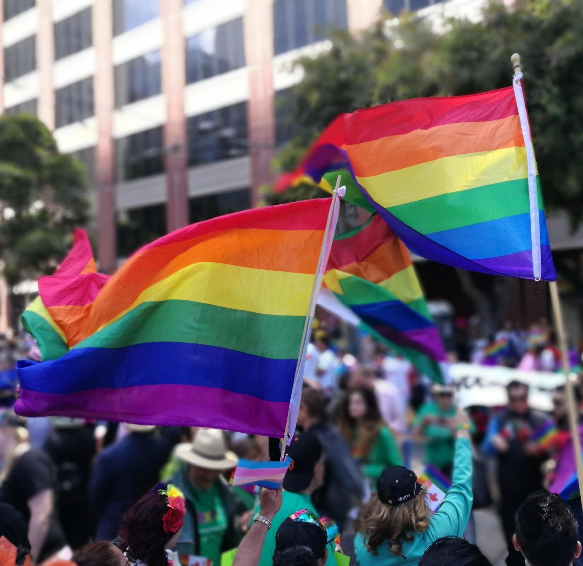 photo of a vibrant pride celebration