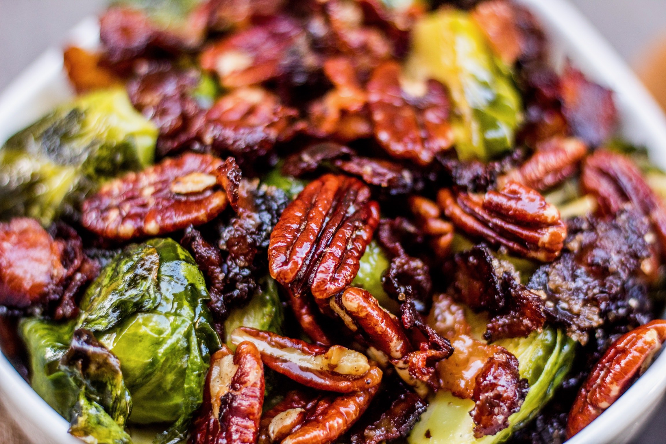 Brussel sprout and pecans