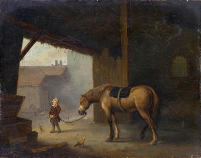 [Boy with a Horse in a Stable (Jacques Albert Senave, 1788)](https://artvee.com/dl/boy-with-a-horse-in-a-stable)