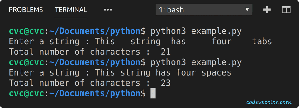 python count total characters in string
