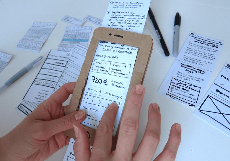Paper prototype phone