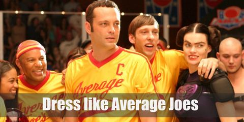 It's no secret that the Average Joes wear a mustard yellow shirt with 'Average Joes' printed on it, matching running shorts, and comfy sneakers.