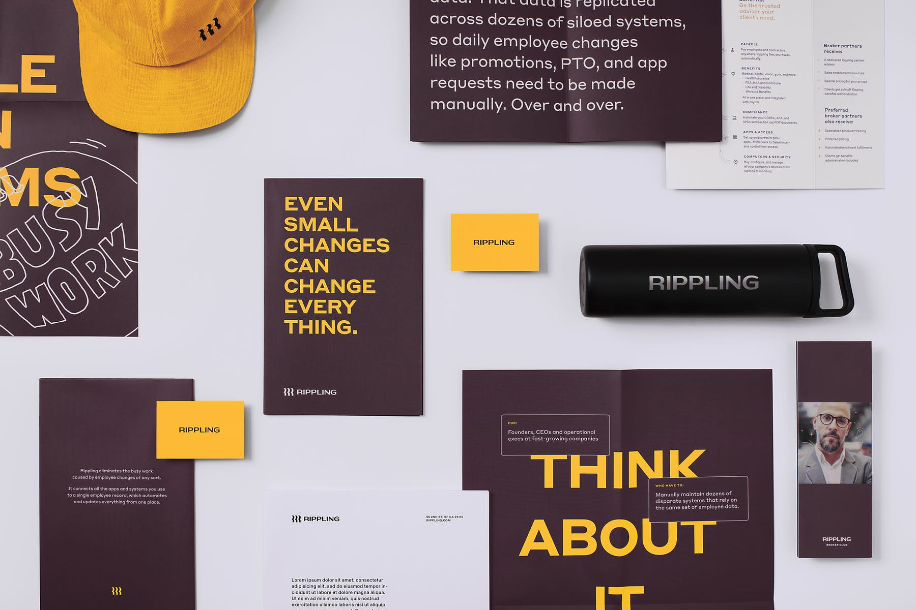 Rippling re-branding collection