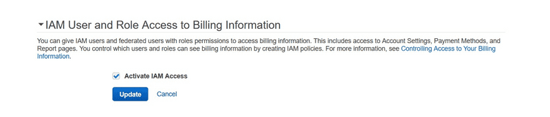 Activate IAM Access
