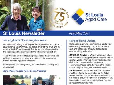 Stlouis NH April may newsletter