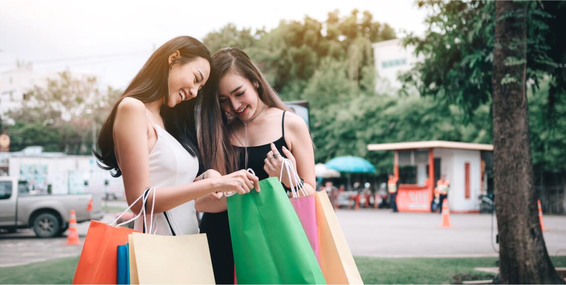 Two women shoppers