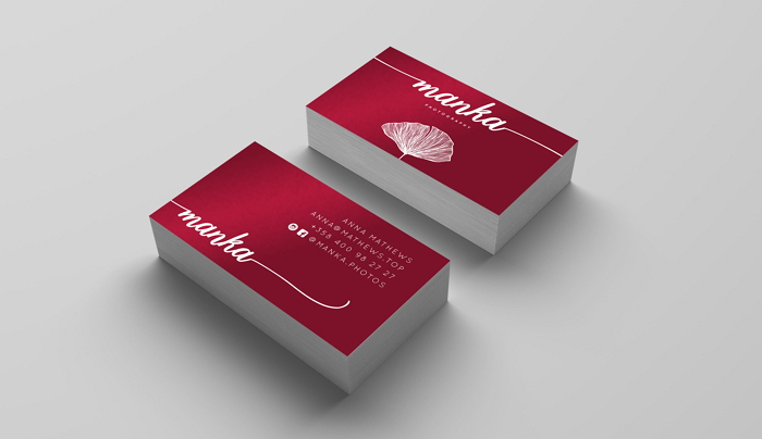 botanical business card design for Manka photography item thumbnail