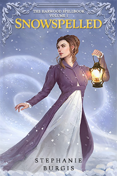 Cover for Snowspelled, by Stephanie Burgis. Original art by Leesha Hannigan.
