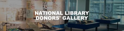A title card labelled: National Library Donors' Gallery.