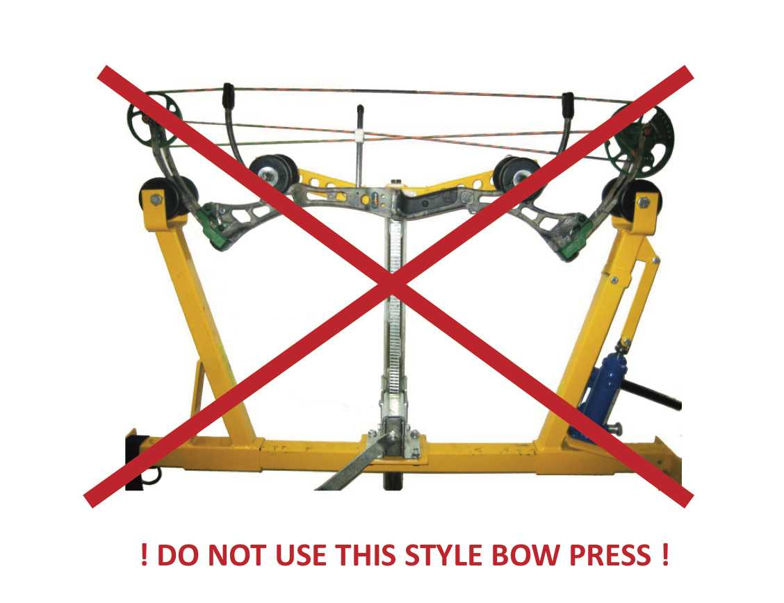 Illustration of an unapproved bow press.