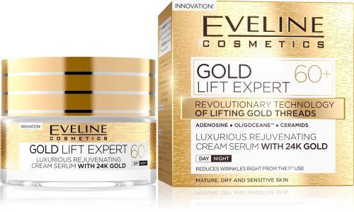 EVELINE GOLD LIFT EXPERT 60+ LUXUS BŐRFIATALÍTÓ KRÉM-SZÉRUM NAPPALI-ÉJSZAKAI ARCKRÉM | Eveline Cosmetics