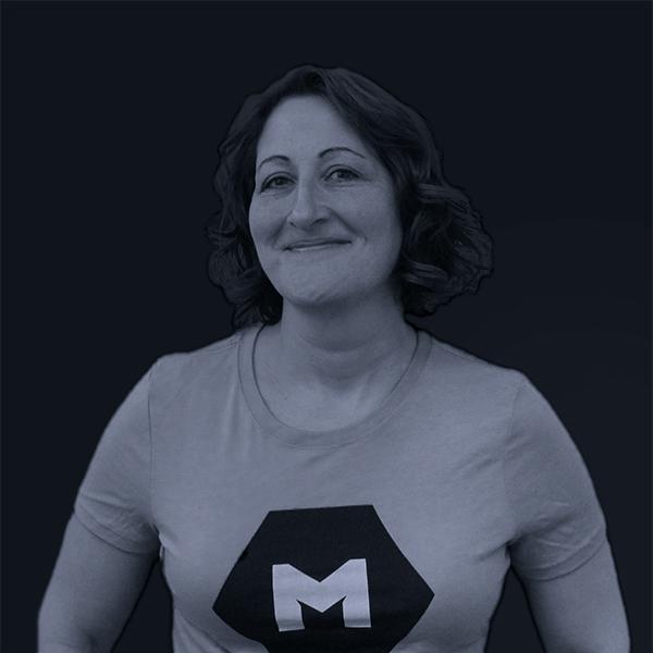 Black and white photo of Mojo Kate MacDonald