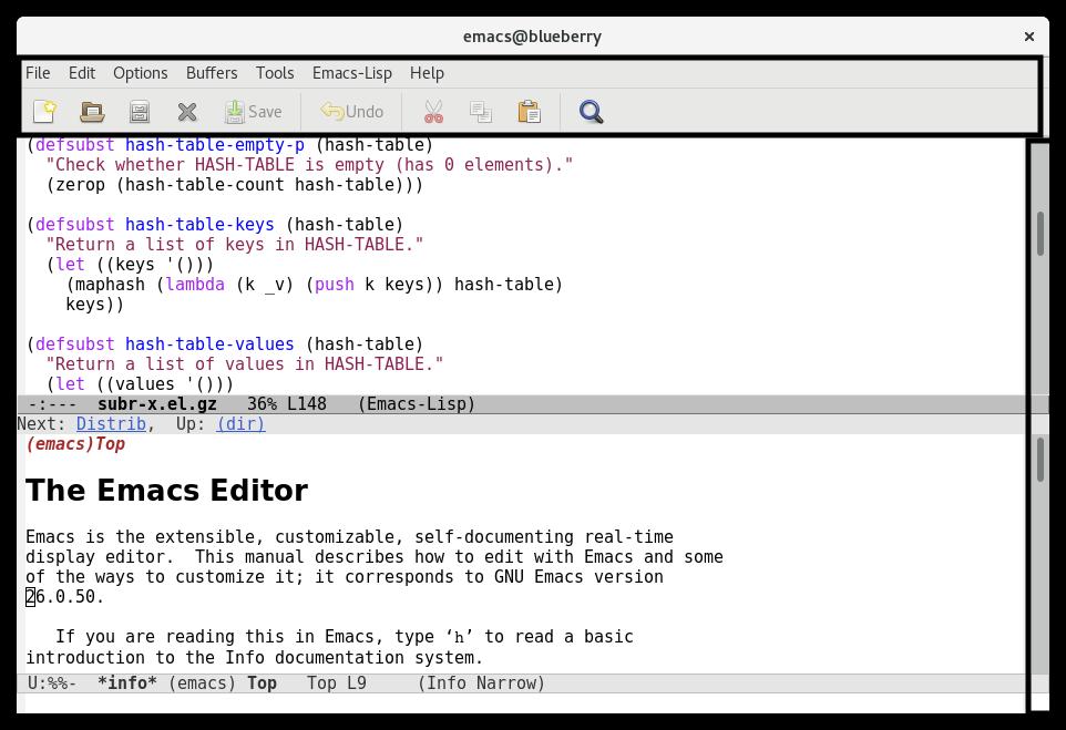 Emacs Toolbar Menubar Scrollbar